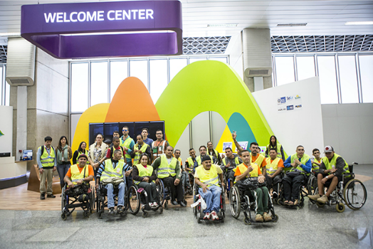 Resultado de imagem para Paralimpíada aeroporto